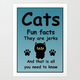 Cats Fun Facts Art Print