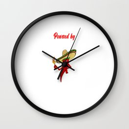 Powered by Hot Sauce for Hot Spicy Food Challange Wall Clock