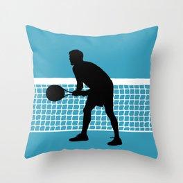 TENNIS indoor Return Net Throw Pillow