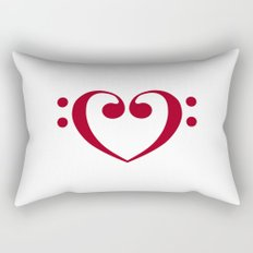 In love with music Rectangular Pillow