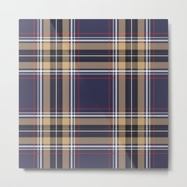 Tartan Seamless Pattern - A funny gift for someone who loves Outlander,  Scotland, Scottish Clan Tartan and Celtic music Metal Print