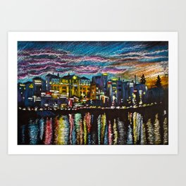 Evening Dalat Art Print