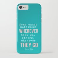 oscar wilde iPhone & iPod Cases featuring Quote By Oscar Wilde by Jenny Ardell