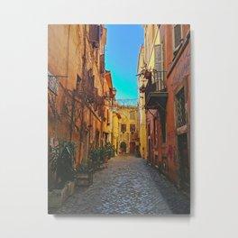 Down a Street in Roma Metal Print