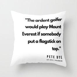 7  | Golf Quotes | 190606 Throw Pillow
