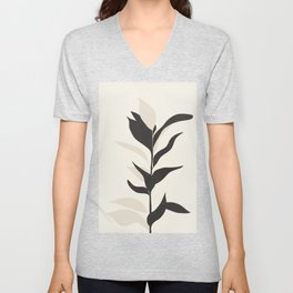 Abstract Minimal Plant Unisex V-Neck