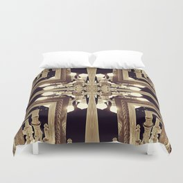 Urban Light Noir Duvet Cover