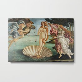 The Birth of Venus by Sandro Botticelli, 1445 Metal Print