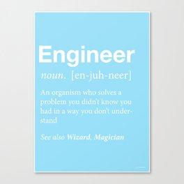 Engineer Canvas Print