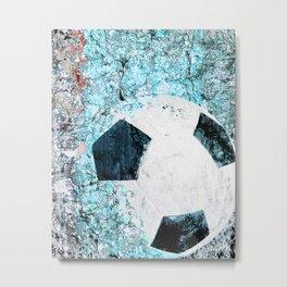 Soccer art Metal Print