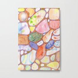 Friendly Colorful Pebbles Pattern Metal Print