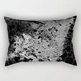 Bogota Black Map Rectangular Pillow