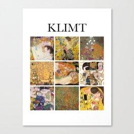 Klimt - Collage Canvas Print