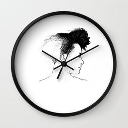 Quiff Wall Clock