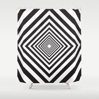 square Shower Curtains featuring Square by Vadeco