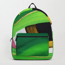 Shades of a friendly frog Backpack