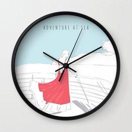 Glamorous Adventure At Sea Wall Clock