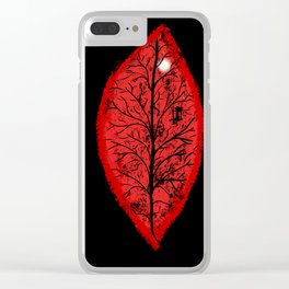Halloween 3 Leaves Clear iPhone Case