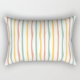 Stripes Stripped Pattern Muted Rectangular Pillow