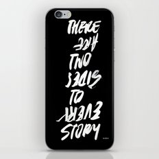 TWO SIDES iPhone Skin