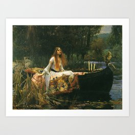 the lady of shalott Art Print
