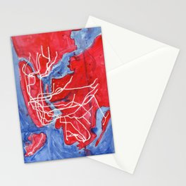 My Messy NYC Subway Map Stationery Cards