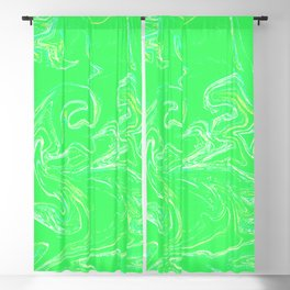 Neon green abstract Blackout Curtain