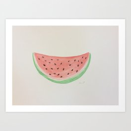 SUMMER WATERMELON  Art Print