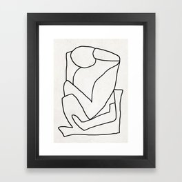 Abstract line art 2 Framed Art Print
