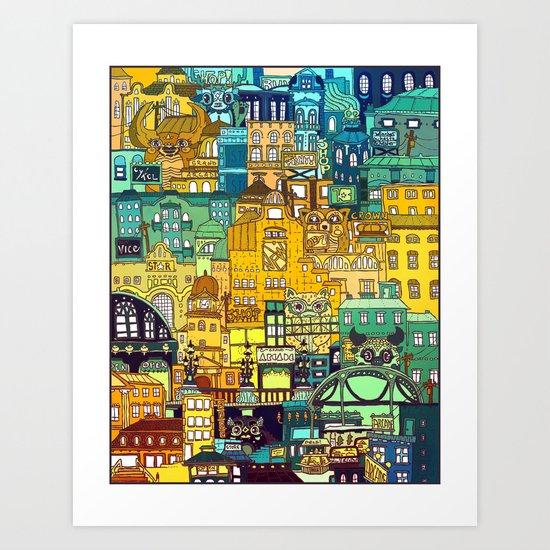 Shopping District Art Print