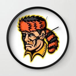 Davy Crockett Mascot Wall Clock