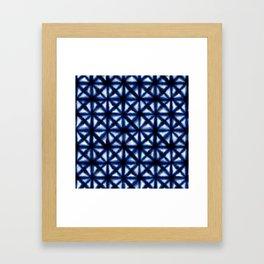 Shibori Squares & Triangles Framed Art Print
