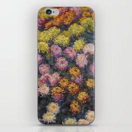 Claude Monet - Bed Of Chrysanthemums iPhone Skin