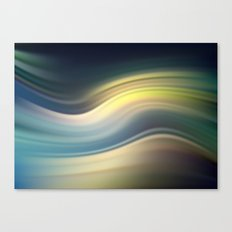Moonlight Sonata. Abstract modern wavy flowing silk, satin, smooth Canvas Print