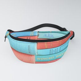 Pink and Aqua Book Stack Fanny Pack