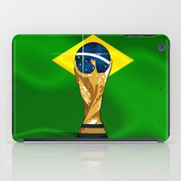 brazil iPad Cases featuring Brazil 2014 by The Vector Studio
