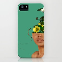Lady Flowers VII iPhone Case
