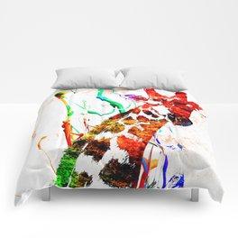 Giraffe Grunge Comforters