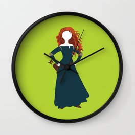 Merida from the Brave Wall Clock