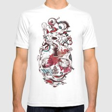 Landscape of an Open Mind MEDIUM White Mens Fitted Tee