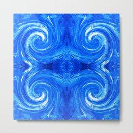 62 - Blue swirls Metal Print