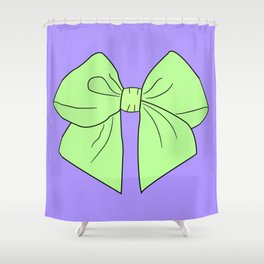 Spring Green Vector Bow Shower Curtain
