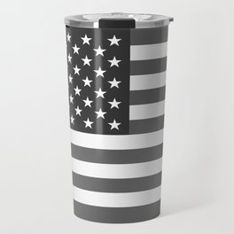American flag in Gray scale Travel Mug