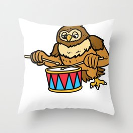 Drum Music Gift Instrument Drums Throw Pillow