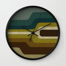 """Retro Lines"" Wall Clock"