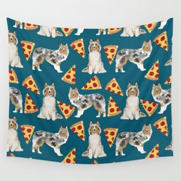 Sheltie shetland sheepdog pizza slices cheese pizzas dog breed pet friendly custom dogs Wall Tapestry