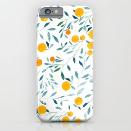 Orange Tree iPhone Case