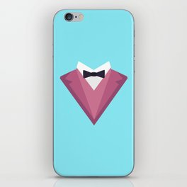 Pink Tuxedo Suit with bow tie T-Shirt Dp81h iPhone Skin