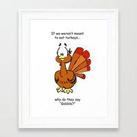 turkey Framed Art Prints featuring Turkey by Vanessa K. Compton