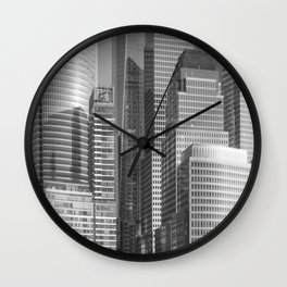 """Urban Angles 1 bw"" by Murray Bolesta Wall Clock"